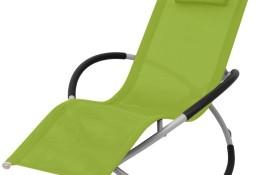vidaXL Leżak z geometryczną ramą, stalowy, zielony 47776