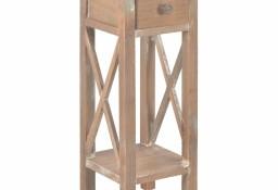 vidaXL Stolik boczny, brązowy, 27x27x65,5 cm, drewniany280060
