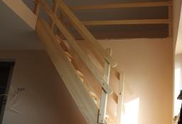 SCHODY KACZE na wysokość 340cm szer.70cm ażurowe młynarskie drewniane z BARIERKĄ