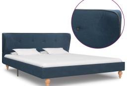 vidaXL Rama łóżka, niebieska, tapicerowana tkaniną, 140 x 200 cm 280579