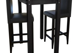 Stolik barowy z 2 krzesłami w kolorze czarnym160726