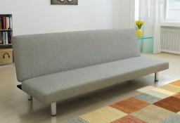 vidaXL Sofa rozkładana, szara, poliester 241655