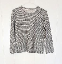 Bluza Zara M 38 biało czarna biel czerń melanż szara boucle