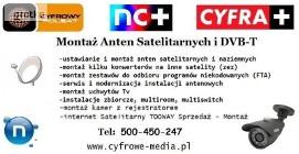 Montaż ANTEN KAŹMIERZ, PAMIĄTKOWO, Cerekwica TEL: 500-450-247