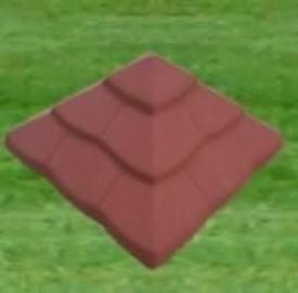 Daszek łuska na słupek z kamienia łupanego 32x32 : 39x39