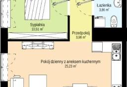 Apartament 44 m2 - 2 pokoje, stan deweloperski, do własnej aranżacji!