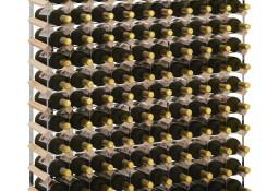 vidaXL Stojak na 120 butelek wina, lite drewno sosnowe282472