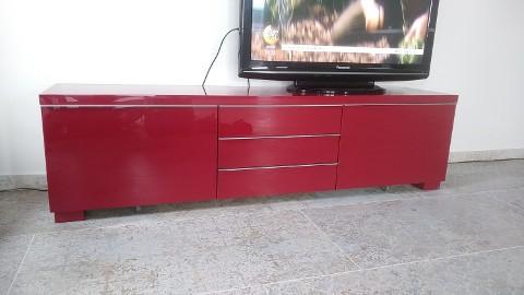 IKEA BESTA BURS Szafka pod TV czerwona połysk
