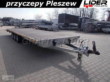 LT-099 przyczepa 850x245cm, platforma, wzmacniana, 3 osiowa, koła 14