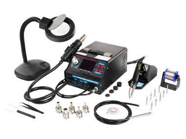 Stacja lutownicza hot air kolba podciśnieniowy chwytak lupa-1