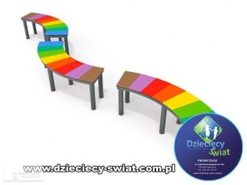6032 ławka kolorowa plac zabaw