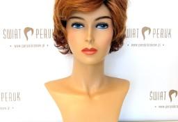 Peruka krótka z włosów syntetycznych w odcieniach rudości Włoszczowa