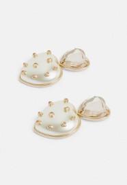 Firmowe, wytworne, złote kolczyki ślubne, perły, serduszka z Londynu/ NOWE z metką