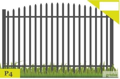 Ogrodzenia,przęsło ogrodzeniowe P-4