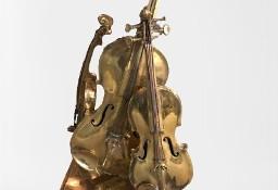 Rzeźba z brązu ku czci Stradivariego skrzypce altówka i wiolonczela H62cm