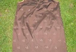 Brązowa sukienka-duży rozmiar