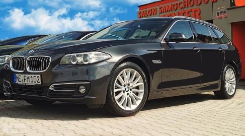 BMW SERIA 5 535dA 313 xDrive Luxury Fotele Sport*F1*DVD*skóra
