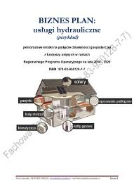 BIZNESPLAN usługi hydrauliczne 2018 (przykład)
