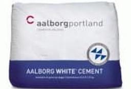 CEMENT biały - AALBORG white cement - worki 25 kg, bardzo mocny 78 MPa
