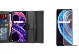 Etui Wallet 2 + Szkło Hartowane do Realme 8 5G