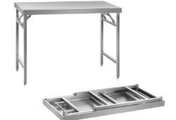 Rozkładany stół roboczy ze stali nierdzewnej 120 cm