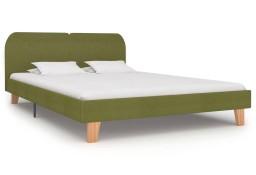 vidaXL Rama łóżka, zielona, tkanina, 160 x 200 cm 280884