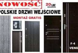 Drzwi wejściowe do mieszkania w BLOKU-zewnętrzne drewniane i metalowe z montażem WEWNĄTRZKLATKOWE.