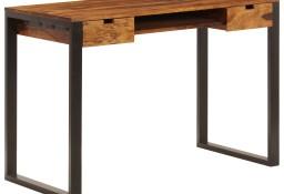 vidaXL Biurko, 110x55x78 cm, lite drewno sheesham i stal247963