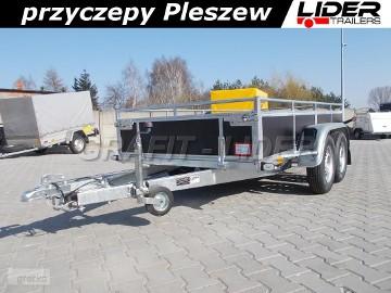 LT-007 przyczepa specjalistyczna, uniwersalna, do budowlanki, 304x144x35cm DMC 750kg