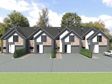 Dom szeregowy o powierzchni 130 m, działka 232m, segment środkowy cena 659 000,