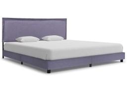 vidaXL Rama łóżka, jasnoszara, tkanina, 180 x 200 cm 280990