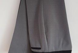 Spodnie F&F 40 L garniturowe w kant drobny wzorek szare lekkie