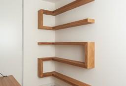 Półka drewniana narożna