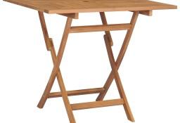 vidaXL Składany stolik ogrodowy, 85x85x76 cm, lite drewno tekowe47419