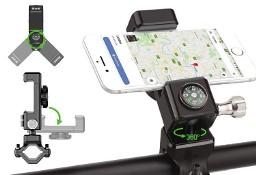 Rowerowy uchwyt na telefon + kompas na kierownicę kolor czarny