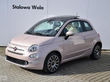 Fiat 500 Dolcevita Panorama Pudrowy Róż CarPlay Klima aut. Cyfrowe zegary Nav-1
