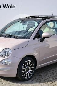 Fiat 500 Dolcevita Panorama Pudrowy Róż CarPlay Klima aut. Cyfrowe zegary Nav-2