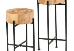 vidaXL Zestaw stolików bocznych, 2 szt., lite drewno akacjowe246207