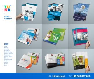 grafika druk projektowanie opakowań drukarnia folder cennik katalogów studio graficzne