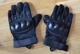 Rękawice taktyczne wojskowe militarne czarne (black) pełne palce