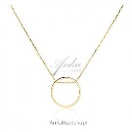 Naszyjnik srebrny pozłacany Celebrytka Piękna, modna biżuteria
