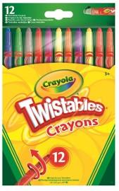 Crayola Zestaw Wykręcanych 12 Kolorowych Kredek Kredki