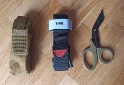 Staza taktyczna zestaw w etui z nożyczkami opaska uciskowa brązowa