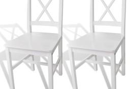 vidaXL Krzesła stołowe, 2 szt., białe, drewno sosnowe 241510
