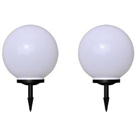 vidaXL Lampy do oświetlenia ścieżki, 2 szt., LED, 40 cm, z kołkami 277117