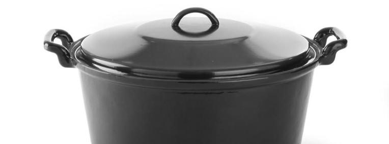 Brytfanna żeliwna z pokrywką 10 litrów-1