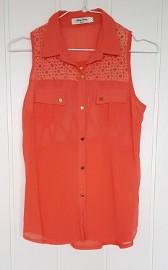 Koszula koszulka pomarańczowa M 38 L 40 lekka zwiewna tunika bluzka