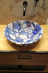 Luksusowa umywalka z kamieni półszlachetnych niebieskich agatów-2