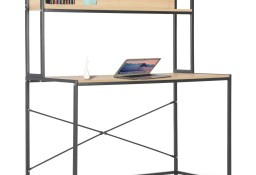 vidaXL Biurko komputerowe, czarne i dębowe, 120 x 60 x 138 cm20256