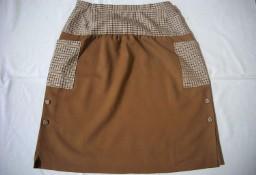 Karmelowa spódnica Kieszenie 40 L 42